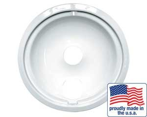 "Range Kleen Drip Bowl Porcelain / White Small / 6"", Single Pack - P119W"