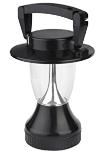 "Solar Powered Camping Lantern. 6V/70 mA Solar Panel. 12 LEDs. Solar and Hand Crank. 8.5"" tall"