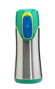 (又降)Contigo Autoseal Stainless Kids 康迪克12oz儿童专用不锈钢保温杯绿$14.28