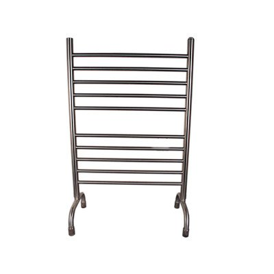 """Solo Freestanding Electric Towel Warmer Finish: Brushed, Size: 38"""" H X 24"""" W X 12"""" D"""