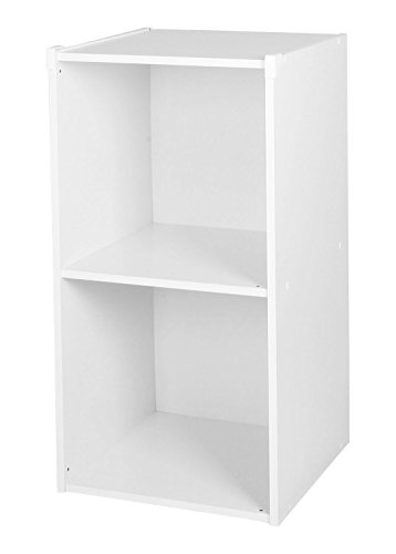 Orderregal-Ordnerschrank-Aktenschranke-Spielzeugregal-Standregal-Aufbewahrungsregal-Aktenschrank-2-Cuben-Weiss