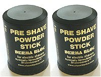 Electric Shavers Save Two Pre Shave Powder Stick Derma Bloc