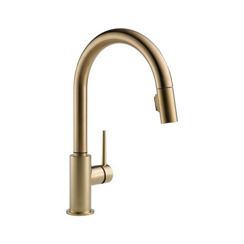 Delta Faucet 9159-CZ-DST Trinsic Single Handle Pull-Down Kitchen Faucet with Magnetic Docking, Champagne Bronze (Kitchen Faucets Bronze Single compare prices)