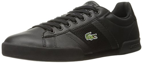 Lacoste Men's Deston 316 1 Spm Fashion Sneaker, Black, 8 M US