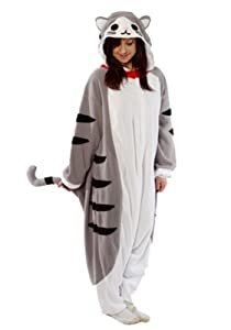 Tabby Cat Kigurumi - Adult Halloween Costumes Pajama