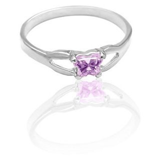 Bfly Petite Butterfly Ring for Little Girls in