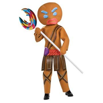 Shrek Child's Costume And Mask, Gingerbread Man Warrior Costume