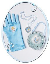 Cinderella Bag & Glove Set Blue Disney Princess Fancy Dress Accessories Kids Fun