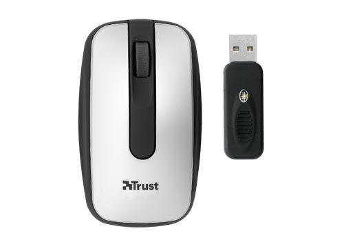 Trust Wireless Optical Mini Mouse MI-4920Np - Souris - optique - 3 bouton(s) - sans fil - RF - récepteur sans fil USB