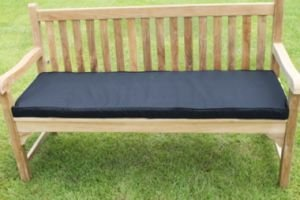 UK-Gardens Schwarz Garten Möbel 3 Sitze Garten Bank Kissen günstig kaufen