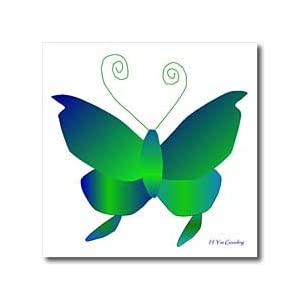 Yves Creations Butterfly Design - Green Butterfly - Iron on Heat Transfers