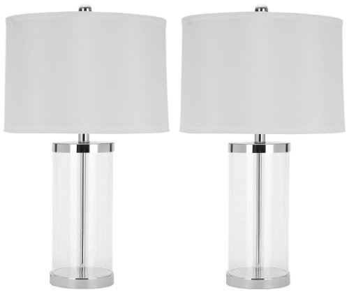 Safavieh set of 2 jeanie glass base table lamps the artisan shoppe add a modern accent to your room with the safavieh lighting collection regan clear glass table lamps this is modern hollywood in a lamp aloadofball Image collections