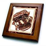 Hot Fudge Sundae Cake - 8x8 Framed Tile