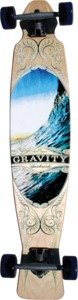 "Gravity M-Carve Going Right Complete Longboard Skateboard - 8.25"" x 42"""