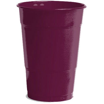 Amscan Big Party Pack 50 Count Plastic Cups, 12-Ounce, Berry