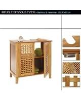 Meuble dessous lavabo - évier en bambou