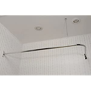 extra long shower curtain rod in chrome