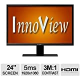 "INNOVIEW I24LMH1 24"" Class Widescreen LED Monitor"