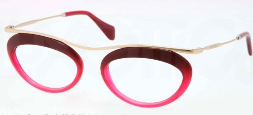 Miu MiuMIU MIU Eyeglasses MU 56MV DG51O1 Fuxia Transparent Fuxia 51MM