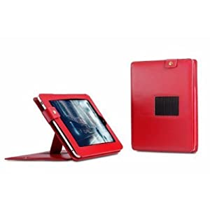 CTCStore Leather Carrying Case Cover/Folio With Built-in Stand for APPLE iPAD 3G tablet / Wifi model 16GB, 32GB, 64GB (Red) from ChiTek