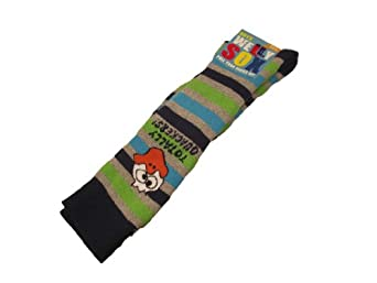 Boys Thick Wellington Boot Socks Warmers Liners Choose From 4 Fun Designs (UK 9/12 (EU 27/30), Navy Top)