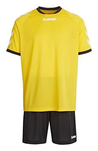 Hummel Sirius Completo sportivo composto da maglietta e pantaloncini per ragazzo, Ragazzo, Trikot-set SIRIUS TRAINING KIT, Sport giallo/nero