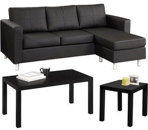 Small Spaces furnishings in your home with the Small Spaces Living Room Value Bundle Coffee Table End Table