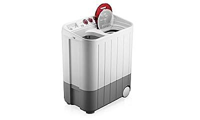 Samsung WT727QPNDMW/XTL Semi-automatic Washing Machine (7.2 Kg, White and Maroon)
