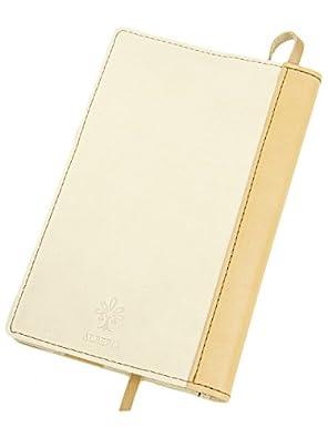 [アルベロ] ALBERO ブックカバー 新書サイズ 革 4383 LYON リヨンシリーズ アイボリー×ベージュ AL-4383-01