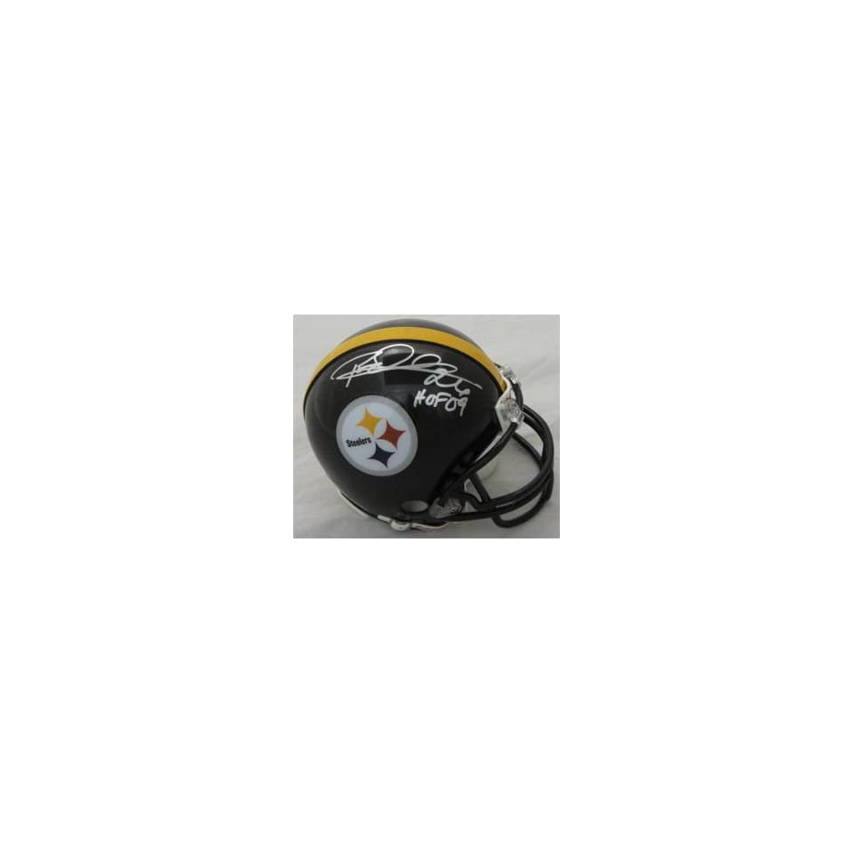 Rod Woodson Signed Pittsburgh Steelers Mini Helmet Hof