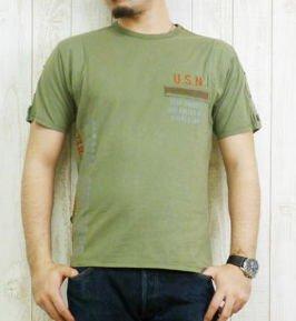 (アビレックス)AVIREX 半袖 Tシャツ リフレックス プリント XL 06サンド