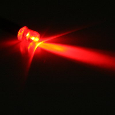 12Vdc 15Cm 5Mm Wire Ultra Bright Led - Red