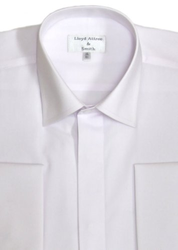 Standard Collar Formal Dress Shirt White