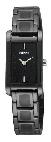 Pulsar by Seiko Black Enamel Inlay Bracelet Ladies Watch PEGF41