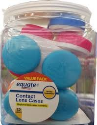 105b New Equate Contact Lens Cases Value Pack 12 Count