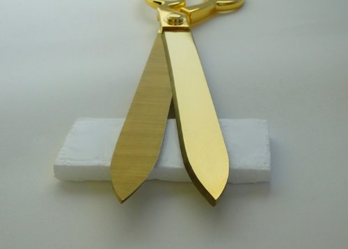 "FREE Grand Opening Ribbon with 15"" Gold Plated Ceremonial Ribbon Cutting Scissors and Case"