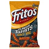 Fritos Corn Snacks, Twists, Honey BBQ, 9.25oz Bag (Pack of 3)
