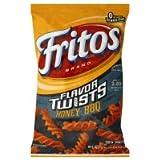 Fritos Corn Snacks, Twists, Honey BBQ, 9.25oz Bag (Pack of 3)