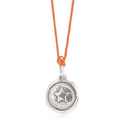 Kids Adjustable Orange Cord Girl Power Necklace