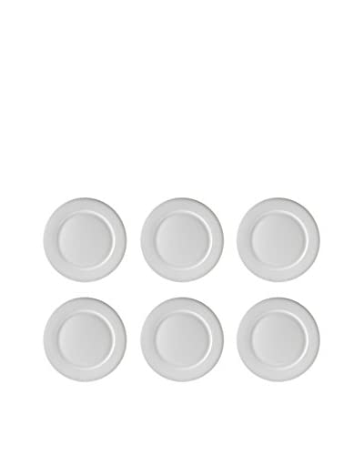 10 Strawberry Street Set of 6 Bistro 9 Luncheon Plates, White