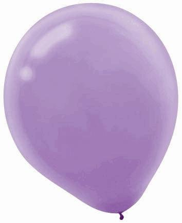 "Amscan Bulk Solid Color Latex Balloons, 12"", Lavender - 1"