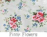 キャスキッドソン/Cath Kidston 柄 生地 【オイルクロス】ハーフサイズ70cm×50cm (Pinny Flowers ピニーホワイト)