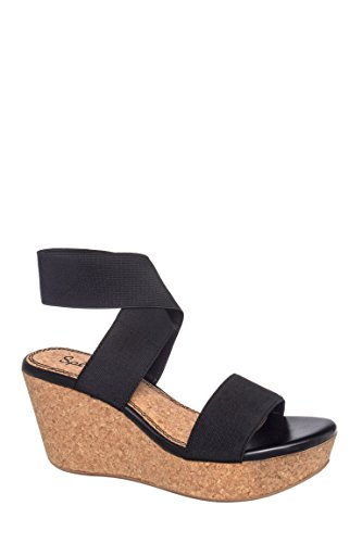 Geena Mid Wedge Ankle Strap Sandal