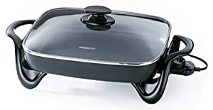 National Presto Ind 06852 Electric Skillet With Glass Lid, 16-In.