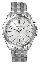 Seiko Kinetic Silver Dial Men&#39;s watch #SKA487P1