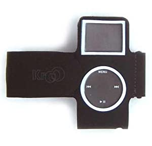 Kroo (Black) Apple Ipod Nano 2GB/4GB Adjustable Wrist/Armband - Full Lcd Screen & Click Wheel Protection + Home/Travel Charger + 12V Car Charger by PCMicroStore