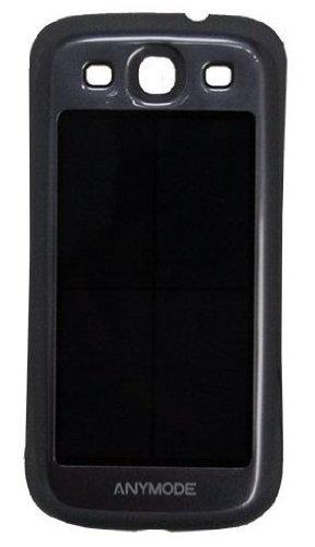 Anymode Handy Case mit Solar Ladegerät und Akku (2100mAh) für Samsung Galaxy S3 i9300/i9305 blau