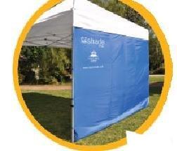 Solar Eclipz EZSHSL8BL ezShade Canopy Curtain