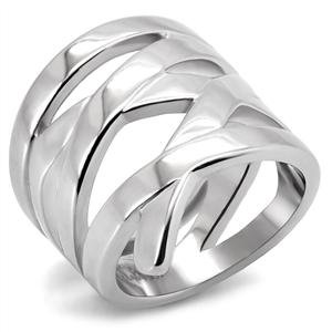RIGHT HAND RING - High Polished Stainless Steel Wrap Ring