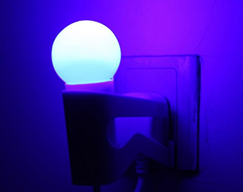 Led Light Control Climbing Wall Doll Night Light Socket Bedside Lamp Wall Lamp (Blue Light)